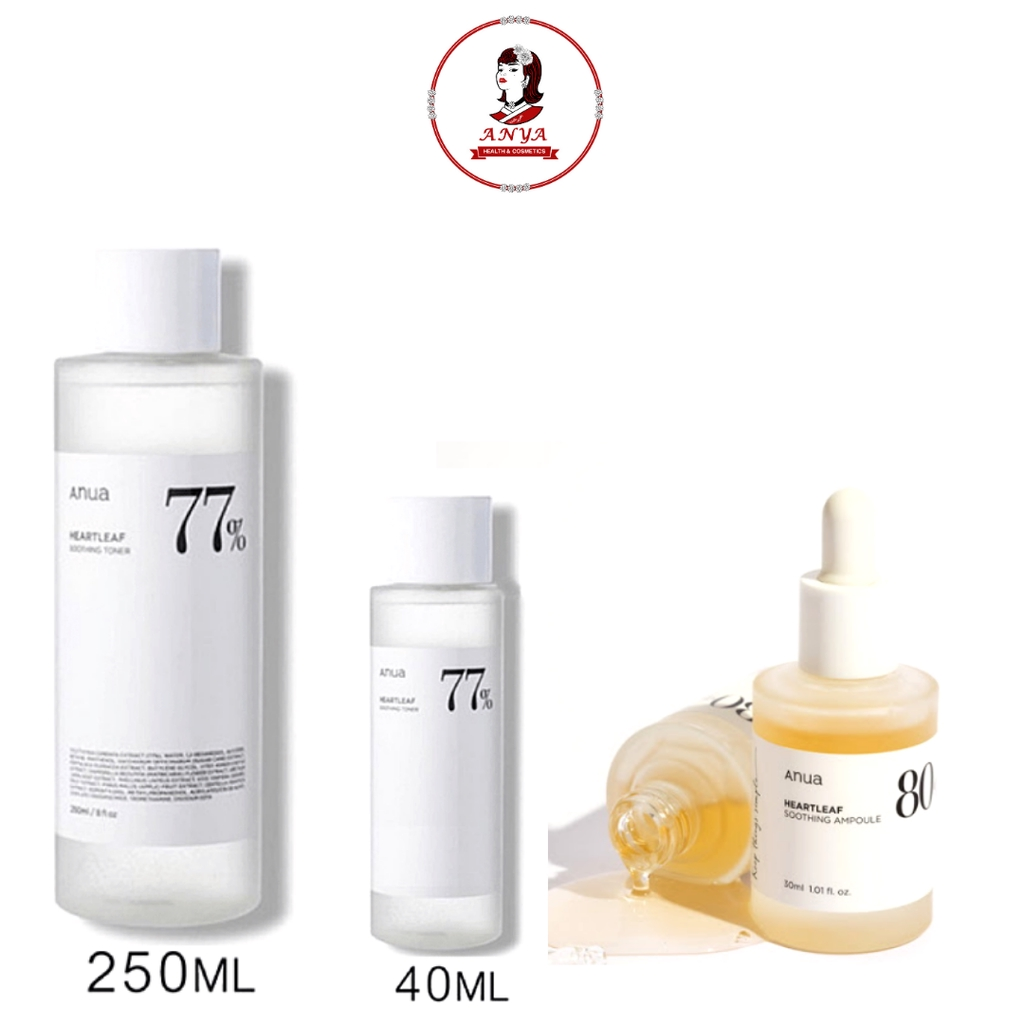 ✨พร้อมส่ง✨💛Anua Heartleaf 77% Soothing Toner 40ml/250ml - โทนเนอร์พี่จุน//💛Anua Heartleaf 80% Soothing Ampoule30ml//