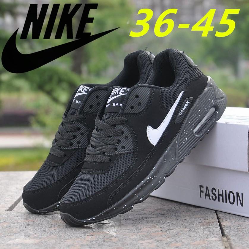 แท้ Nike AIR MAX90 รองเท้าผ้าใบผู้หญิง NIKEรองเท้าผ้าใบสีขาว รองเท้าคัชชูผู้หญิง N-325213-131-137-138