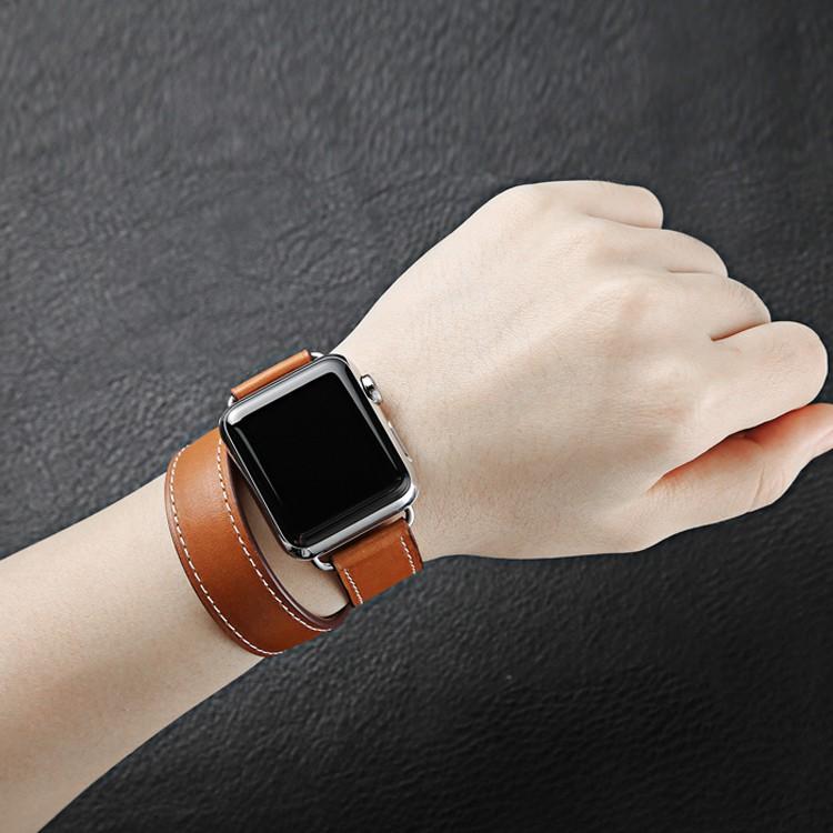 สายคล้องนาฬิกาข้อมือหนังแท้สําหรับ Apple Watch Hermes