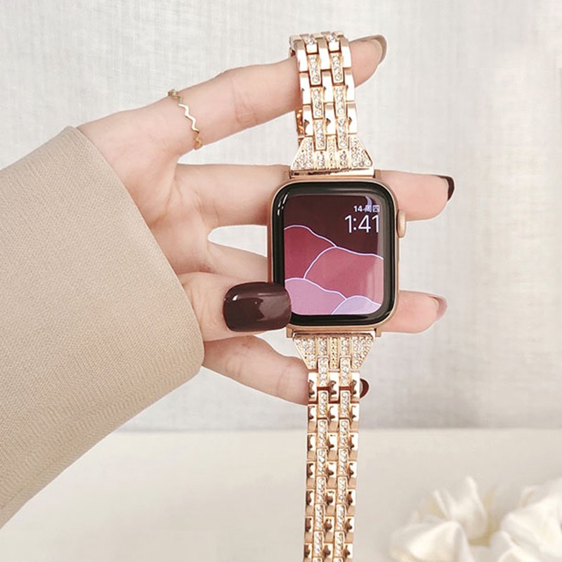 สายนาฬิกาข้อมือโลหะสําหรับ Applewatch 6 Iwatch Series 5 Generation 4 3 5