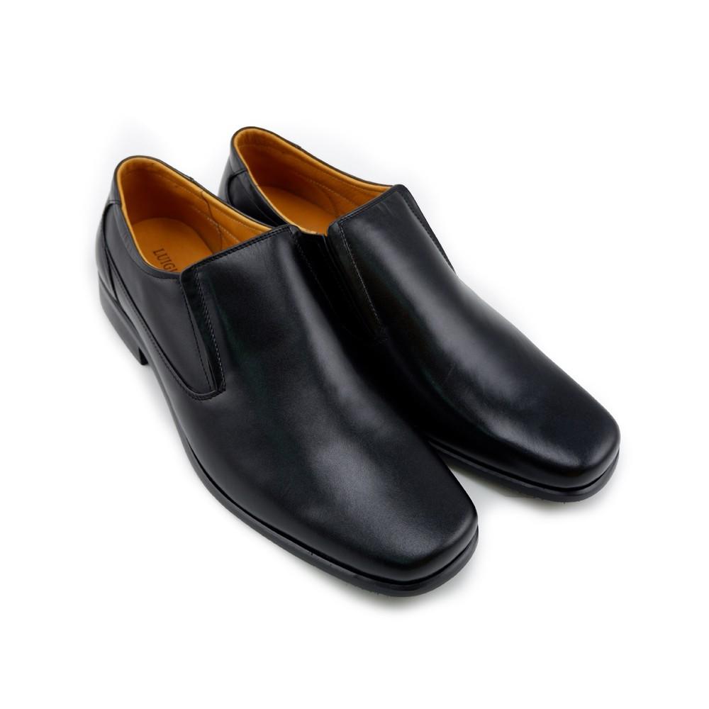 ♥LUIGI BATANI รองเท้าคัชชูหนังแท้ รุ่น LBD6053-51 สีดำ✼