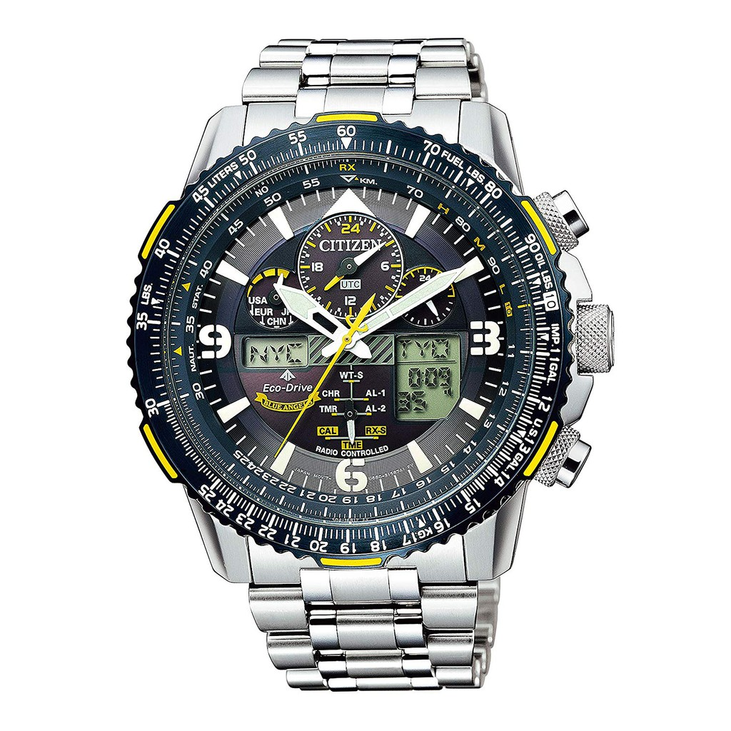 CITIZEN Promaster Eco-drive radio clock Blue Angels model Special store handling model JY8078-52L Men's Silver