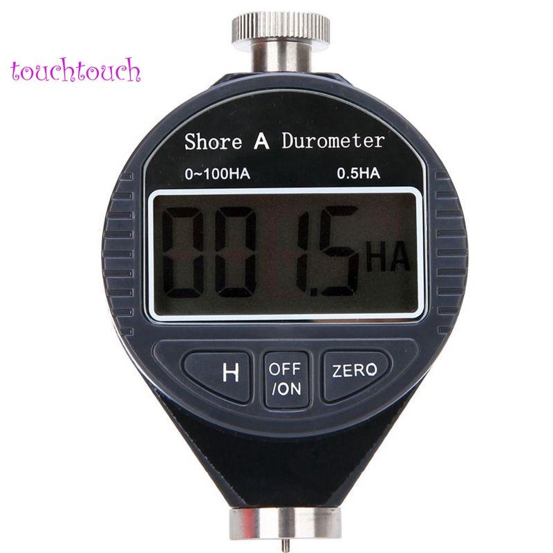 เครื่องทดสอบความแข็งดิจิตอลจอแอลซีดี durometer 0-100 ha shore a 1 ชิ้น