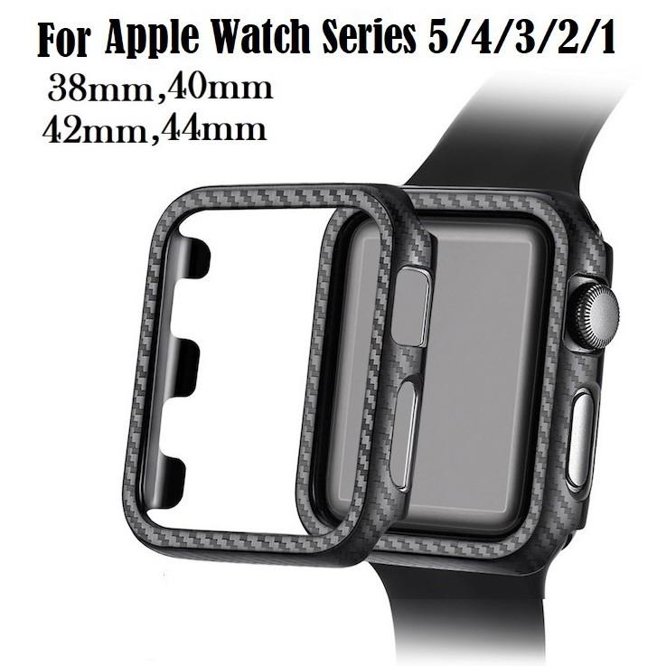 เคส Apple Watch Case PC Hard Protective Frame For Apple Watch Series 6 5 4 3 2 1,Apple Watch SE iWatch Cover 38MM 42MM 40MM 44MM Bumper Watch Band Accessories