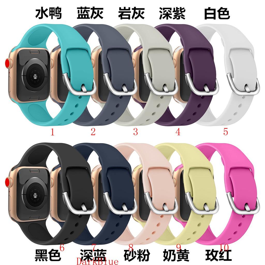 สายนาฬิกาข้อมือซิลิโคนสําหรับ Apple Watch 5 4 Band 38 mm 42 mm Iwatch Series 5 4