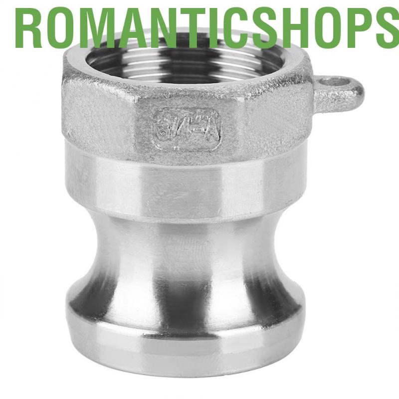 """1//2/"""" A Trash Pump Adapter Male Camlock x Female Pipe Threads Stainless Steel 316"""
