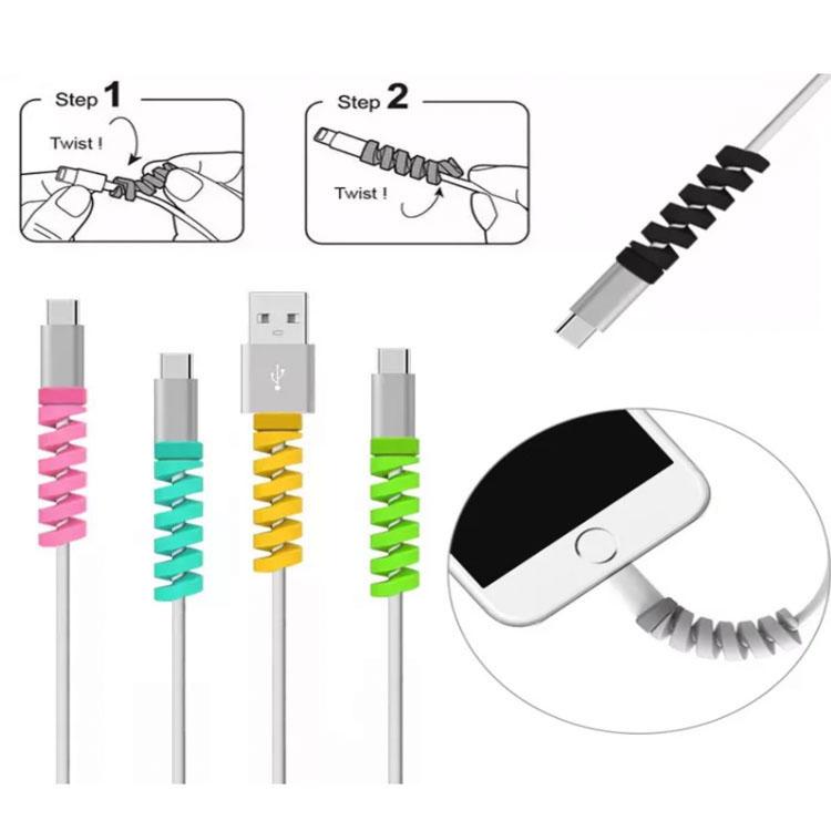 (tiki)ตัวป้องกันสาย USB Saver หูฟังสายป้องกันสายไฟสายชาร์จสายป้องกันหูฟัง Apple Lightning