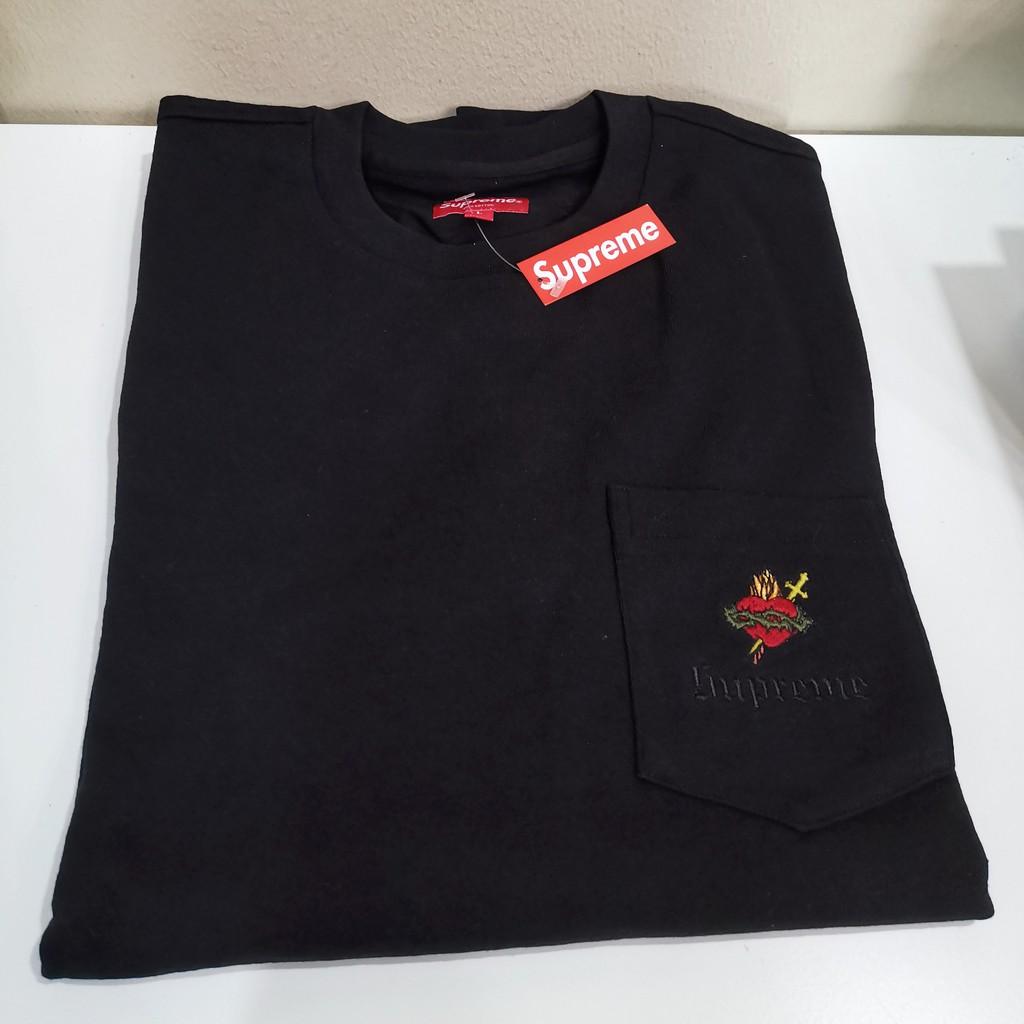 ขาย เสื้อยืด Supreme Sacred Heart Lon Sleeve Tee ไซส์ size L Large แขนยาว ของใหม่ ป้ายห้อย ของแท้ Street wear Bape Yeezy