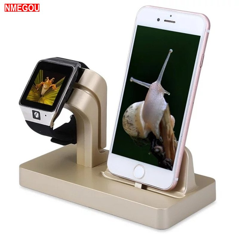 2 In 1 Charging Charger Stand for Aplle Watch Apple IWatch Series 1 2 3 Applewatch IPhone X 6 6S 7 8 Plus Soporte Phone