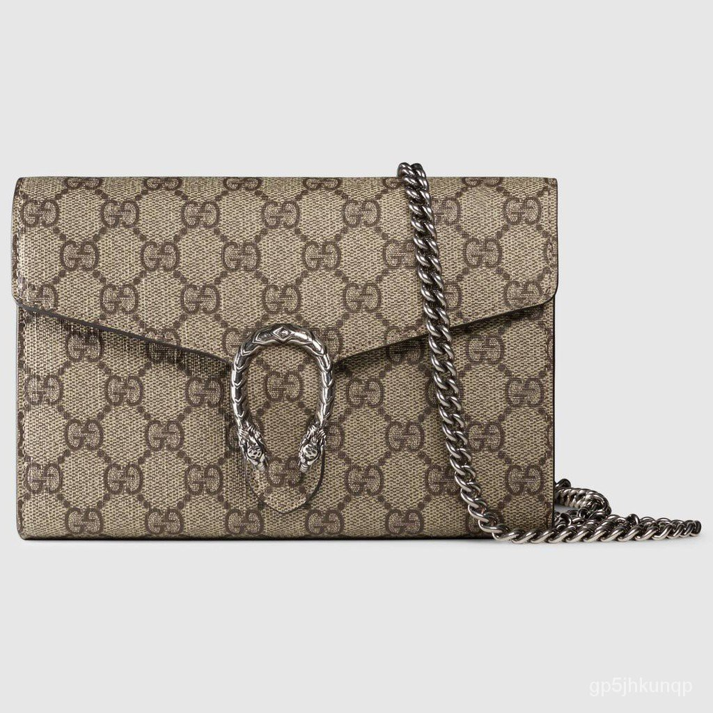 Gucci / New / Dionysus series GG Supreme canvas chain bag / ของแท้ 100% / 20CM (จัดส่งฟรี)