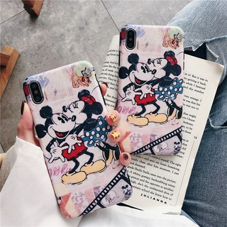 Image # 0 of Review เคสไอโฟน iPhone X XS Max XR iPhone 7 8 Plus iPhone 6 6S Plus Cartoon Mickey & Minnie Matte Soft Case