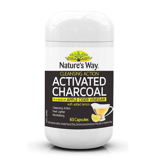 แบรนด์ Nature's Way สูตร Activated Cleansing Charcoal + Apple Cider Vinegar