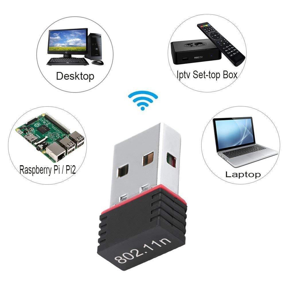 ตัวรับ WIFI 150Mbps สำหรับคอมพิวเตอร์ โน้ตบุ๊ค USB 2 0 Wireless Wifi