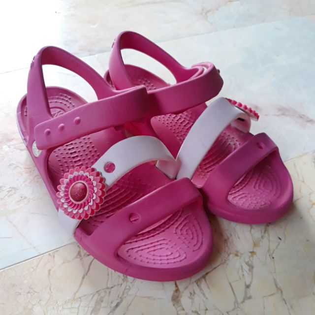 Crocs รัดส้นสีชมพู [รองเท้ามือสอง]