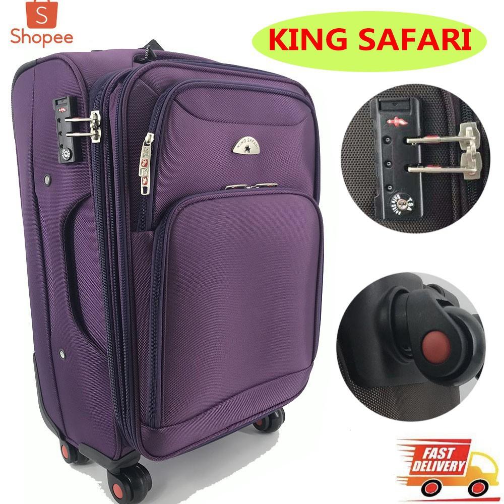 กระเป๋าเดินทาง กระเป๋าเดินทางล้อลาก KING SAFARI รุ่น NO3388 ขนาด (20/24/28)นิ้ว W14 /20/24/ กระเป๋าล้อลาก กระเป๋าเดินทาง