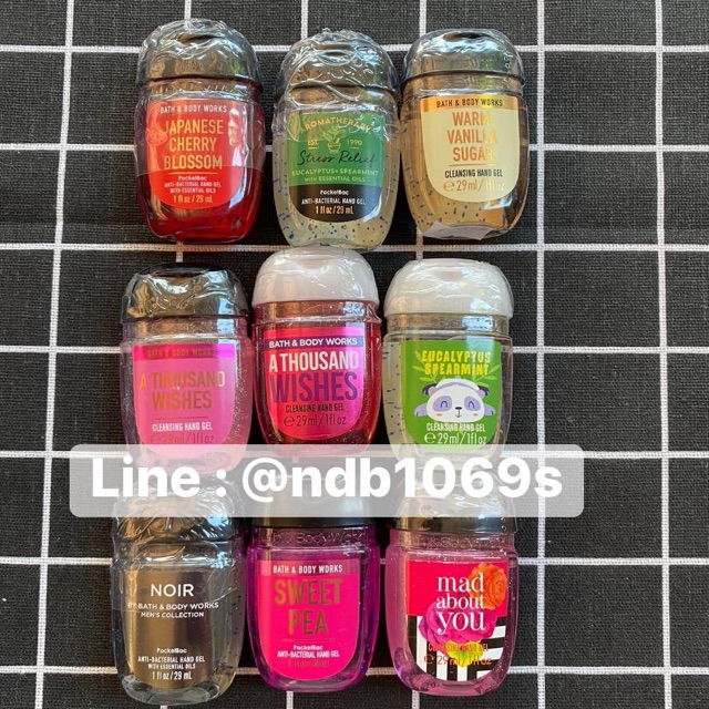 พร้อมส่ง เจลล้างมือ ของใหม่ BATH & BODY WORKS  HAND GEL Dettol thousand wish warm vanilla Anti Bac Alcohol Gel