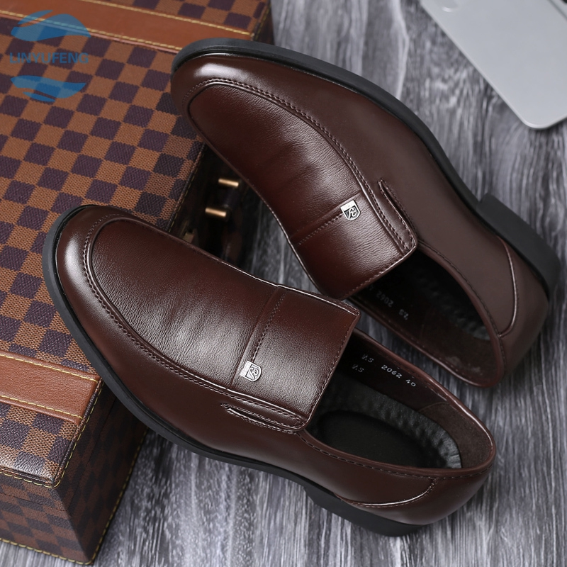 LYF➡ รองเท้าหนังแบบผูกเชือก รองเท้า รองเท้าหนังแฟชั่น รองเท้าหนังแท้ loafer รองเท้าคัชชูรองเท้าโลฟเฟอร์ ผู้ชาย 01