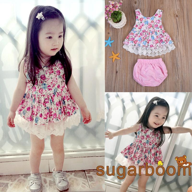 Girls Summer Cotton Dress Kids New Denim Top Check Skirt Ages 3-11 Years
