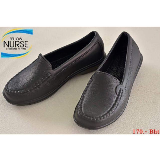 รองเท้าสลิปออนผู้หญิง﹍ คัชชูสีดำ น้ำหนักเบา ไม่ขึ้นรา