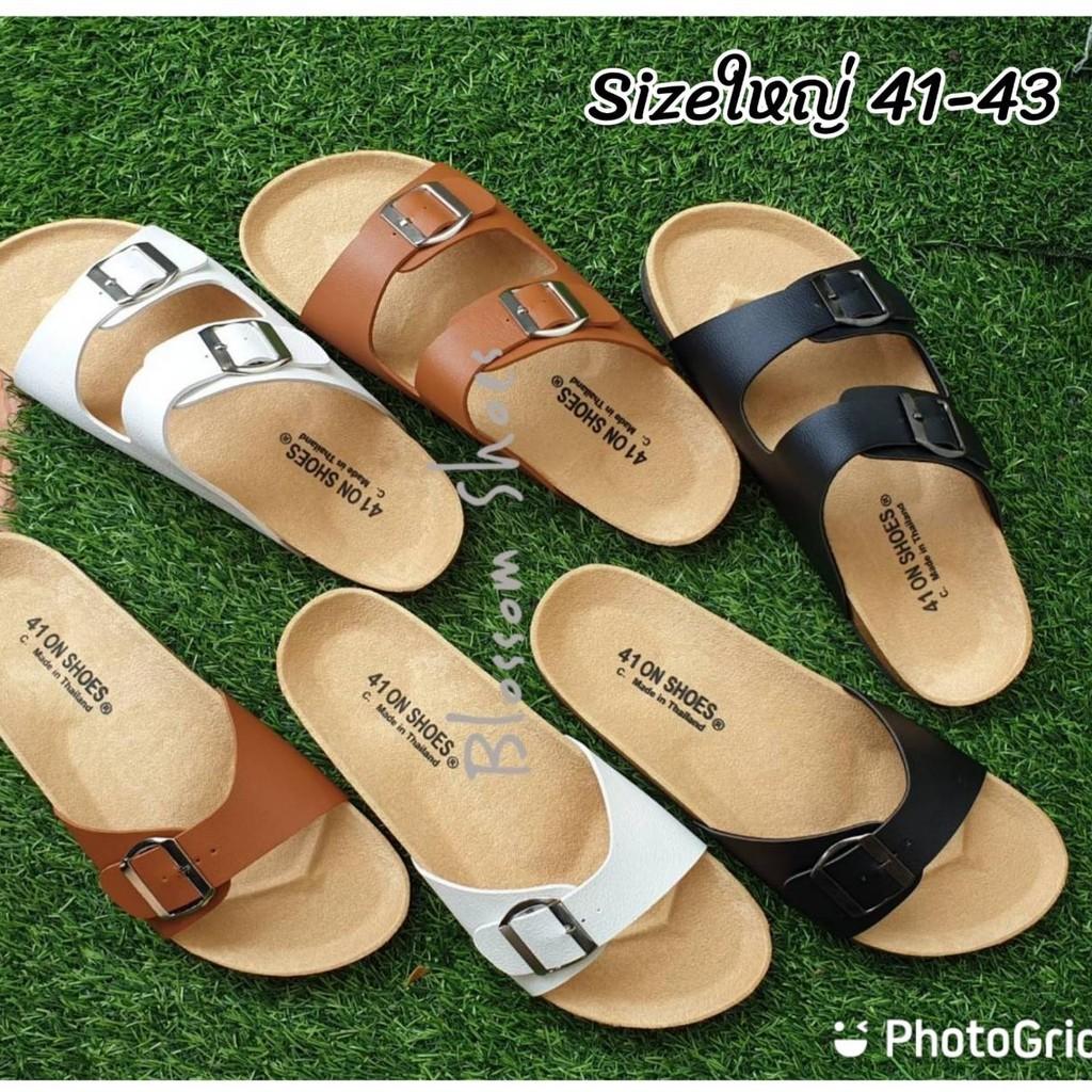 รองเท้าแตะ รองเท้าแตะไนกี้ รองเท้าแตะ ฺBikenStock 1Step /2step ไซส์ใหญ่ 41-43 สายปรับระดับได้