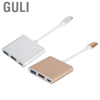 Review Guli 3 in 1 USB3.1 Type C to USB3.0 + 4K HDMI Adapter  Female Multiport with USB-C Fast Charging Port Support