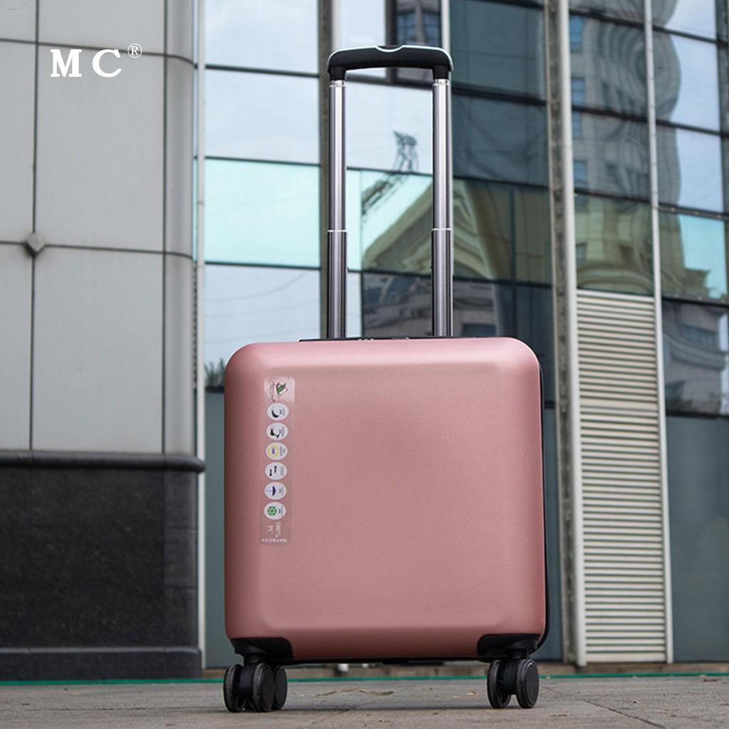 ◐✙กระเป๋าเดินทางสำหรับธุรกิจขนาดเล็กและน้ำหนักเบา กระเป๋าเดินทางสำหรับรถเข็นสำหรับสุภาพสตรีขนาด 18 นิ้ว ผู้ชาย 20 นิ้ว ร