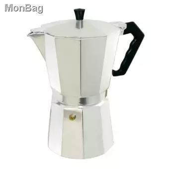 🍒พร้อมส่ง🍒✳moka pot เครื่องชุดทำกาแฟ เครื่องทำกาหม้อต้มกาแฟสด สำหรับ 6 ถ้วย / 300 ml พร้อม เตาอุ่นกาแฟ เตาขนาดพกพา เต