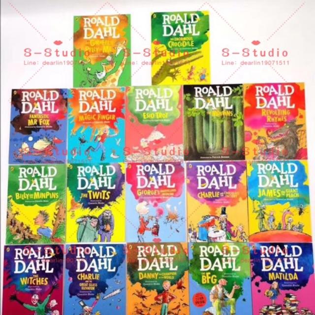 Roald Dahl Collection Colour Edition17 Books  Set 2020 new A4 หนังสือภาษาอังกฤษ free audio