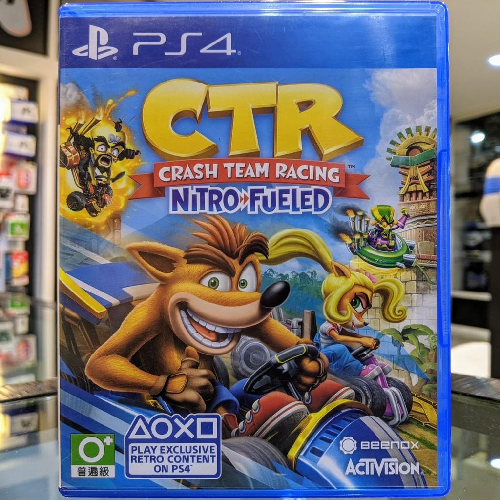 (ภาษาอังกฤษ) มือ2 CTR Crash Team Racing Nitro Fueled แผ่นเกม PS4 แผ่นPS4 มือสอง (เล่น2คนได้ Racing CRT)