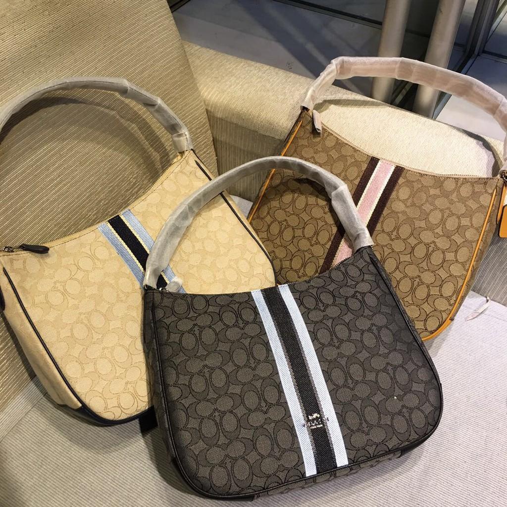 COACH 39042 กระเป๋าถือผู้หญิงกระเป๋าผ้าแคนวาสพิมพ์ลาย