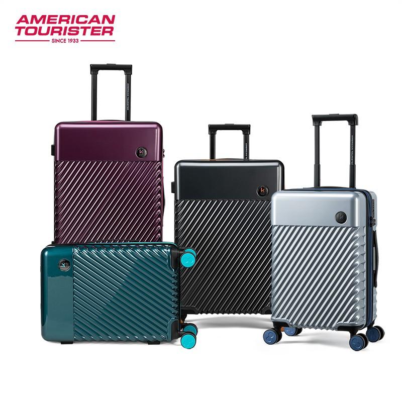 ↮➳American Travel X designer กระเป๋าเดินทางร่วม KARIM ขนาดเล็ก 20/24 นิ้วรถเข็นล้อเลื่อนสากล TE3