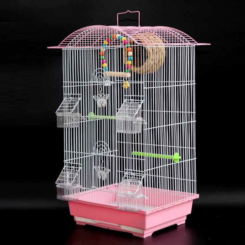 Xuanfengนกแก้วกรงนกสองชั้นกรงนกขนาดใหญ่Myna Mynaดงดอกโบตั๋นเสือผิวพันธุ์กรงที่มีกล่องเพาะพันธุ์