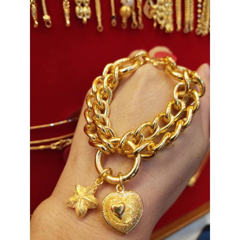 ซืัอเฮงใส่ดี สร้อยมือทอง 96.5%  หนัก 3 บาท ยาว 18.5cm ราคา 89,600บาท