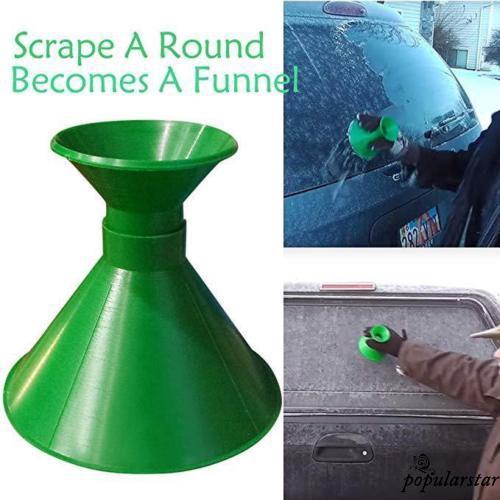 Magic Cone-Shaped Car Windshield Ice Scraper Lyly Round Windshield Ice Scraper Car Snow Removal Shovel Tool as Gift