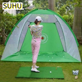 SUHU Sports Equipment Golf Practice Net High Quality Foldable Golf Driving Cage Durable Mesh Material Fashion Easy to set up Great training aid Indoor Golf Exercise Net