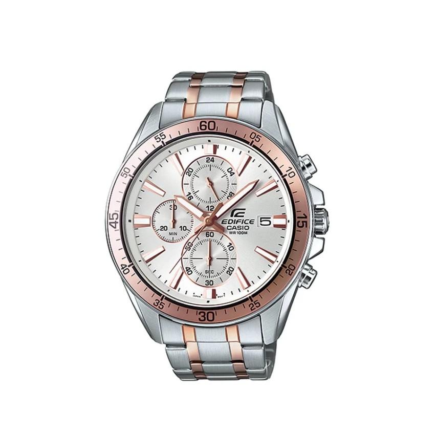 Casio Edifice Chronograph นาฬิกาข้อมือผู้ชาย สายสแตนเลส รุ่น EFR-546SG-7A -White