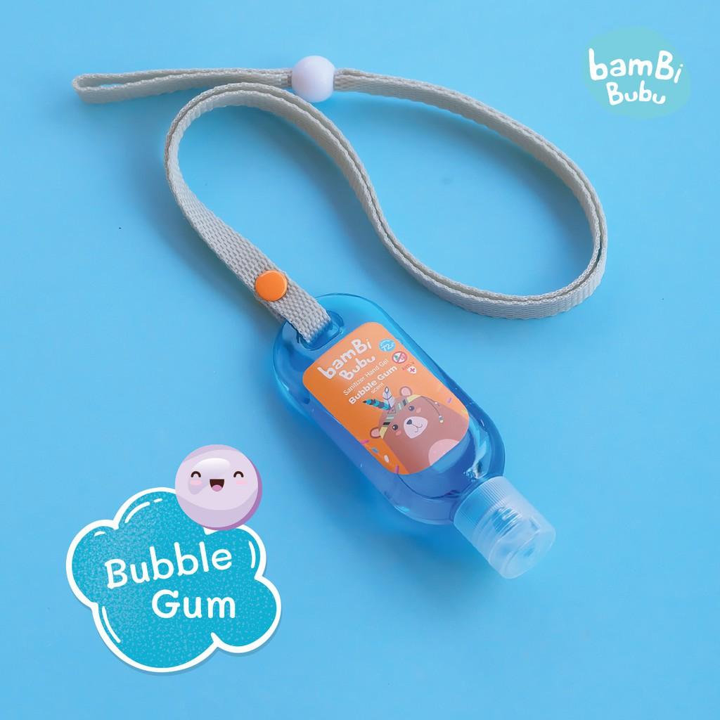 👍✅💯∈☾□(เซ็ต 3 สี) Bambi Bubu Official แบบคล้องคอ เจลล้างมือสำหรับเด็ก เจลแอลกอฮอล์ล้างมือ เจลล้างมือ ขนาด 30ml