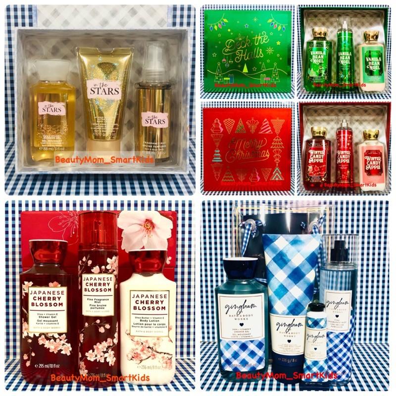 ชุดของขวัญ 3 ชิ้นGift Set Box Bath&BodyWorks Signature Collection  Body lotion / Shower Gel / Body Mist ชุดดูแลผิวหอม
