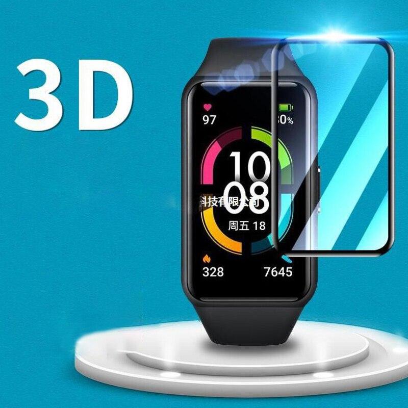 ฟิล์มกันรอยหน้าจอ 3 D สําหรับ Huawei Honor Band 6