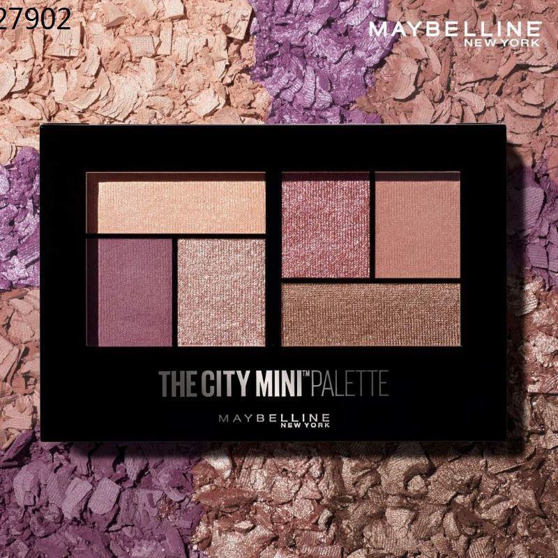 แป้งเมย์เบลลีน maybelline mascara แป้งพัฟเมย์เบลลีน ♨(แท้100% สีใหม่) Maybelline The City Mini Palette สี Westside Rose☞