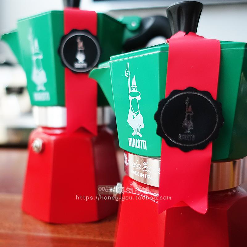ЯЯเครื่องชงกาแฟมือหม้อต้มกาแฟBialetti BIALETTI อิตาลีนำเข้าหม้อเอสเปรสโซทำกาแฟวาล์วเดียวหม้อ Moka ในครัวเรือนหม้อ Moka