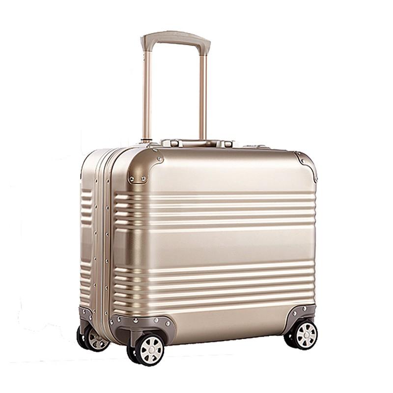﹤⅓รถเข็นอลูมิเนียม - แมกนีเซียมอัลลอยด์กระเป๋าเดินทาง 14 นิ้ว 16 กระเป๋าเดินทางคอมพิวเตอร์ 17 กระเป๋าเดินทางโลหะ 18 รอยข