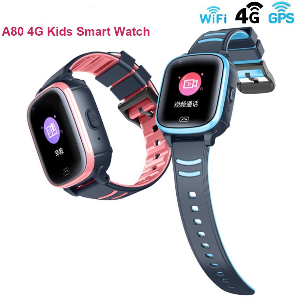 Smart WatchA80 นาฬิกาเด็ก 4G 2020 นาฬิกาติดตามตัวเด็ก มี GPS เมนูไทย วีดีโอคอล กันน้ำได้ Smart watch Kid 4G