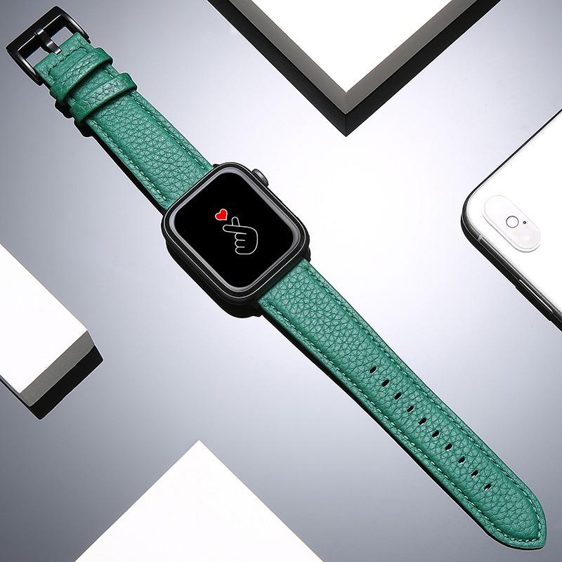Suoke เหมาะสำหรับapplewatch6สายiwatchseนาฬิกาสายหนังสำหรับผู้ชายและผู้หญิงiwatch5/4/3/2/1รุ่นseries38mmกีฬาบ้าม้าแบรนด์น