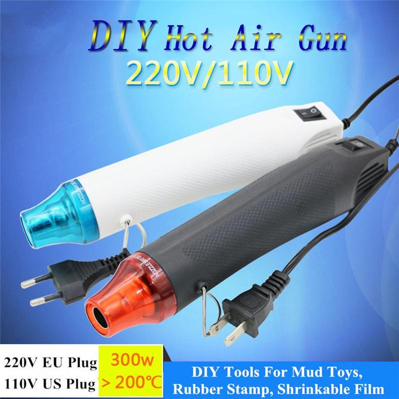 300W 110V//220V Heat Gun Tool Hot Air Temperature Electric Power Nozzle For US//EU
