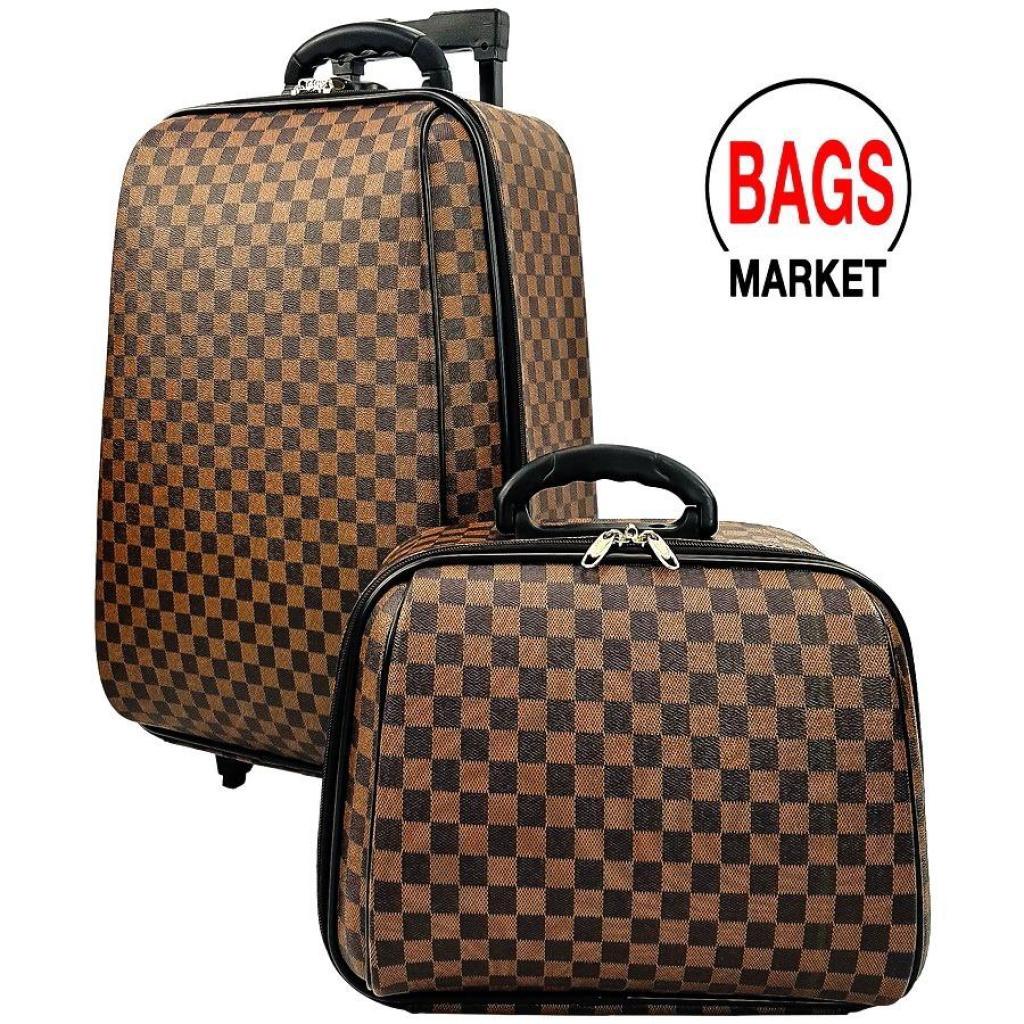 Wheal กระเป๋าเดินทาง ล้อลากระบบรหัสล๊อค ขนาด  18 นิ้ว/14 นิ้ว Luxury Classic (Brown) Code F1812heal กระเป๋าเดินทาง ล้อลา
