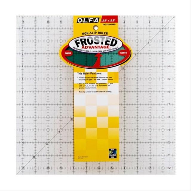 "Olfa Non Slip Frosted Ruler 12.5/"" x 12.5/"""