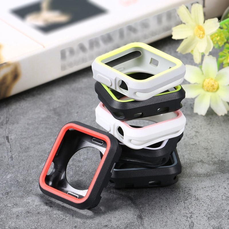 Apple Watch Series 38mm 42mm 40mm 44mm Cute Color Rubber Protective Case Candy Silicone Case