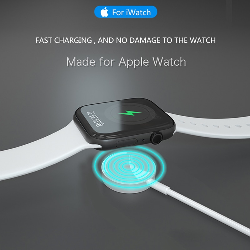 New Wireless Charging Dock Portable Smart USB Watch Charger Cable Magnetic for Apple IWatch Series 5 4 3 2 Applewatch fo