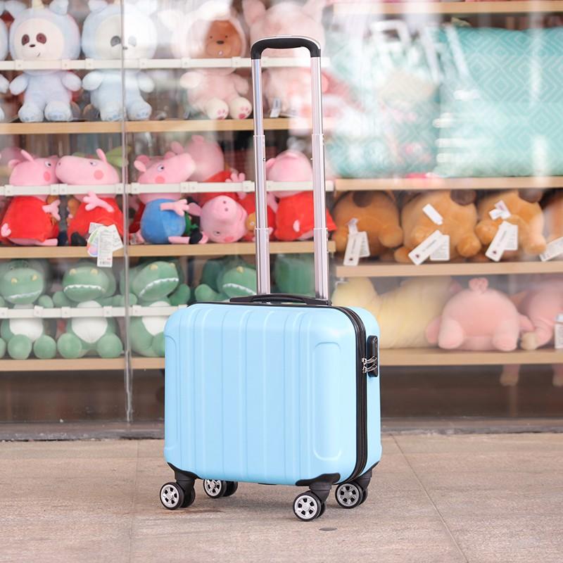 นิ้ว กระเป๋าลาก กระเป๋าเดินทางล้อคู่ แข็งแรง ยืดหยุ่นสูง น้ำหนักแชสซีบอร์ด16นิ้วขนาดเล็กน้ำหนักเบากระเป๋าเดินทางหญิงมินิ